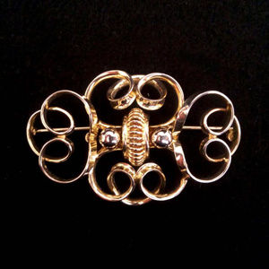 Gold Vermeil Sterling Silver Brooch Made in Canada
